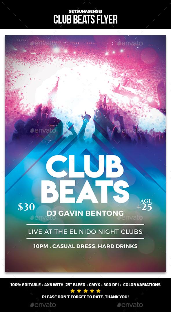Club Beats Flyer - Events Flyers