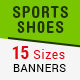 Sports Running Shoes Banners