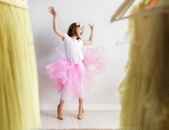 girl dressing up at home - Stock Photo - Images