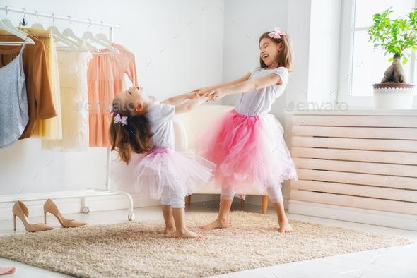 children are having fun - Stock Photo - Images