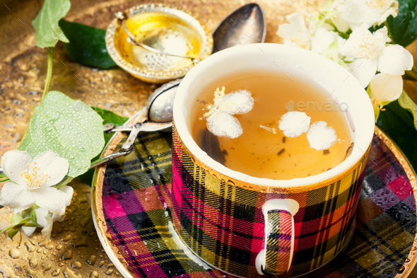 Herbal tea with jasmine - Stock Photo - Images