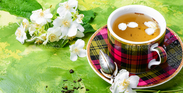 Herbal tea with jasmine - Stock Photo - Images
