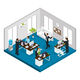 Isometric Stress at Work Concept