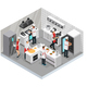 Isometric Restaurant Cooking Room Concept