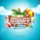 Vector Summer Time Holiday Typographic