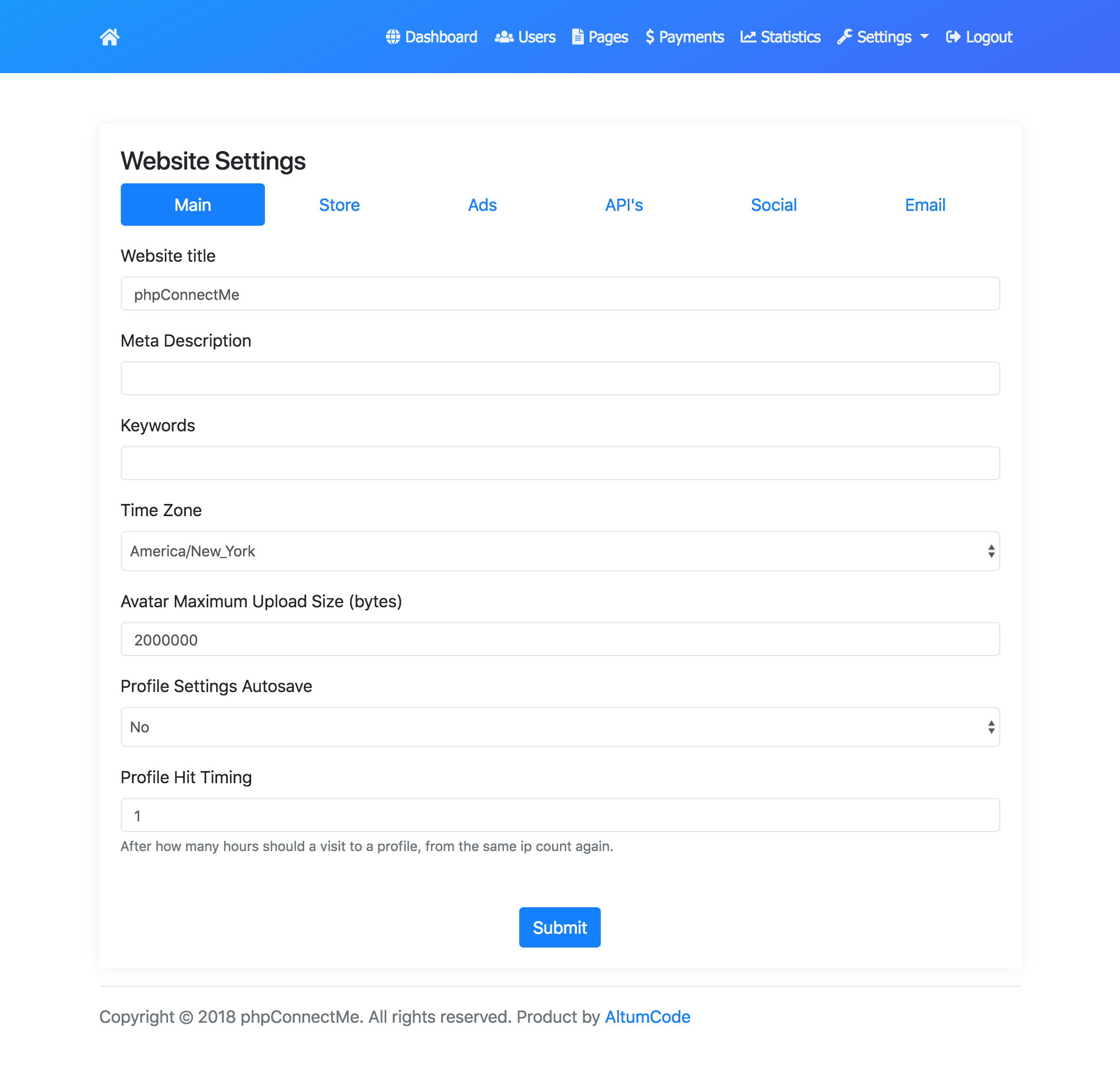 phpConnectMe - Instagram Custom Social Profile