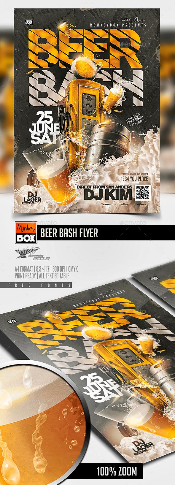 Beer Bash Flyer - Events Flyers