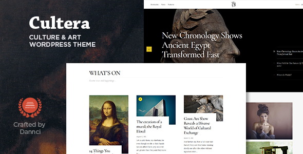 Cultera – Art & Culture WordPress Theme