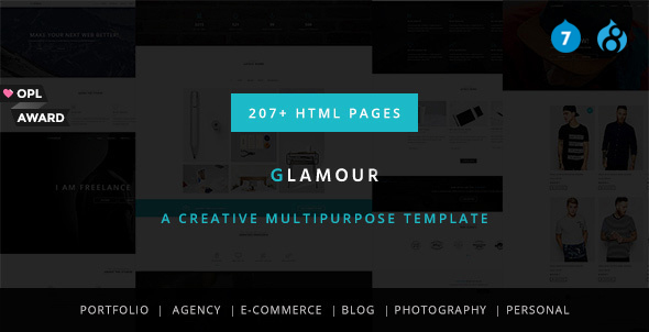 Glamour - Multipurpose OnePage & MultiPage Drupal 7 & 8 Theme