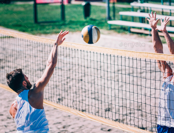 Beach Volleyball Competition - Stock Photo - Images