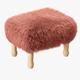 Angharad sheepskin Footstool