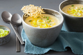 creamy potato and leek soup in bowl - PhotoDune Item for Sale