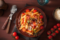 veggie penne pasta with tomatoes parmesan thyme - PhotoDune Item for Sale