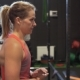 Strong Muscular Fitness Woman Walking in Gym - VideoHive Item for Sale