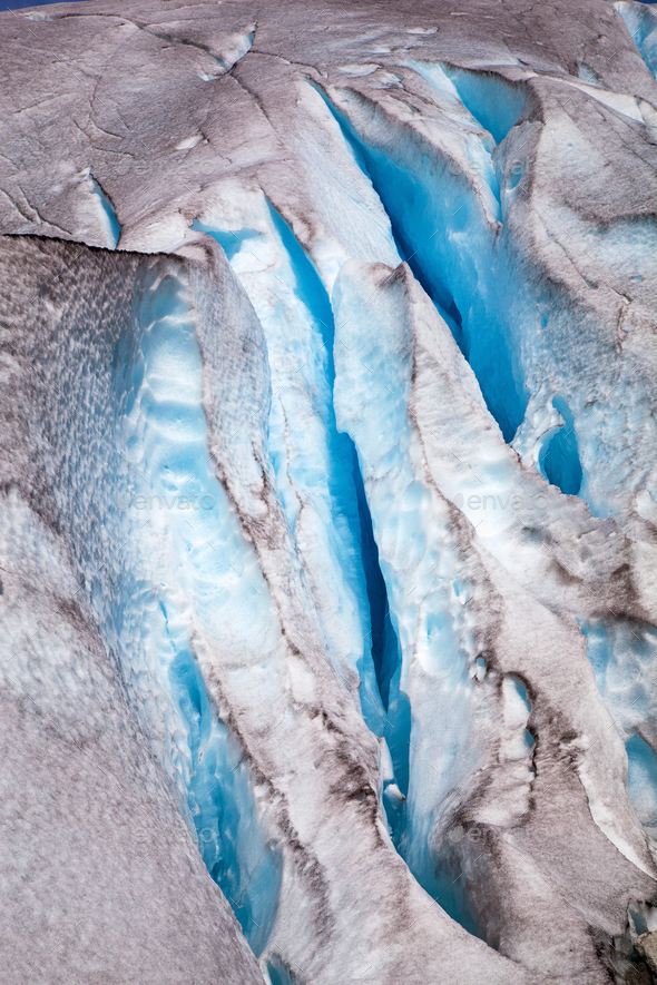 Nigardsbreen glacier in summer, Norway - Stock Photo - Images