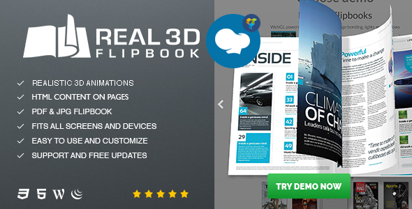 Real3D Flipbook for WPBakery Page Builder (formerly Visual Composer) Addon            Nulled