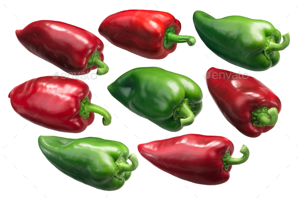 Bell peppers Grueso de Plaza, whole - Stock Photo - Images
