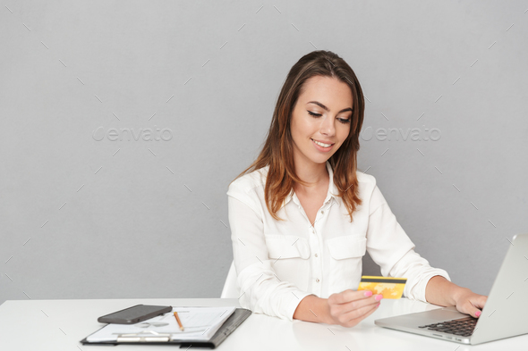 Portrait of a confident young business woman - Stock Photo - Images