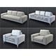 Vittorio sofa and armchair (beige)