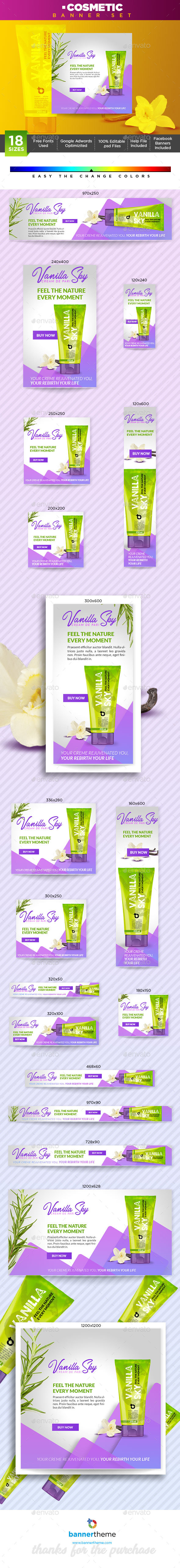 Cosmetic Banner - Banners & Ads Web Elements