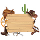Vector Western Board with Cowboy Accessories