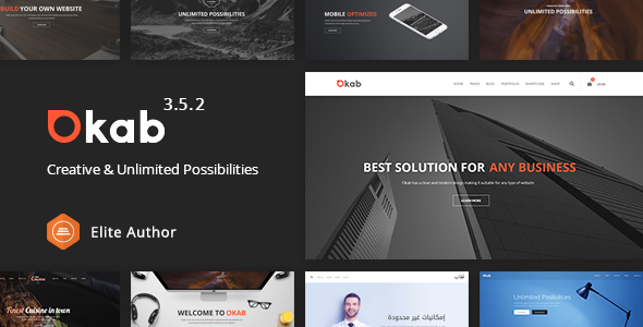 Okab - Responsive Multi-Purpose WordPress Theme - Business Corporate