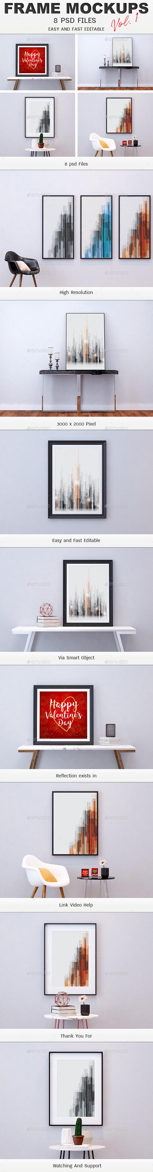 Photo Frame Mockups Vol.1 - Product Mock-Ups Graphics