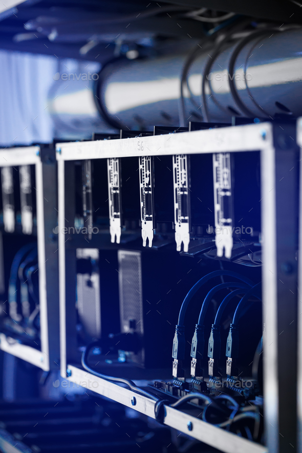 Crypto currency mining - Stock Photo - Images
