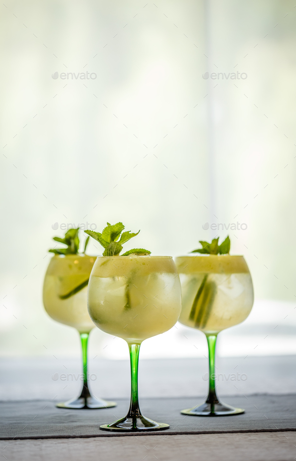 Refreshing summer non- alcoholic cocktails - Stock Photo - Images