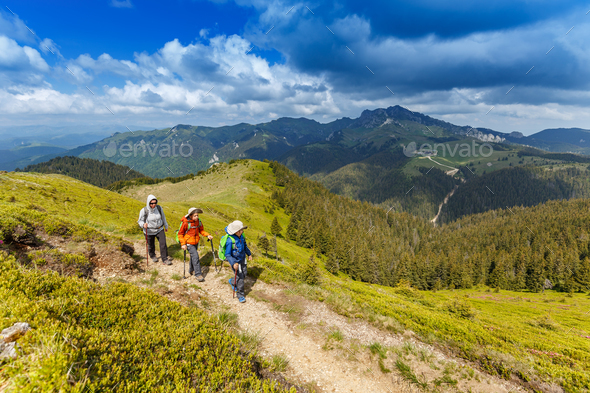 Hiking in the mountain - Stock Photo - Images
