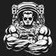 Bodybuilder in an Astronaut Suit - GraphicRiver Item for Sale