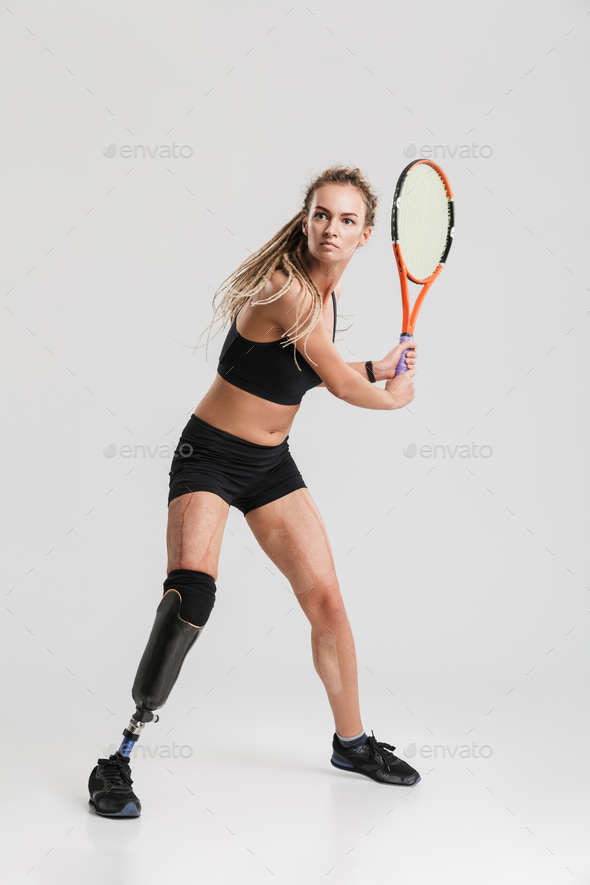 Gorgeous young disabled sportswoman - Stock Photo - Images