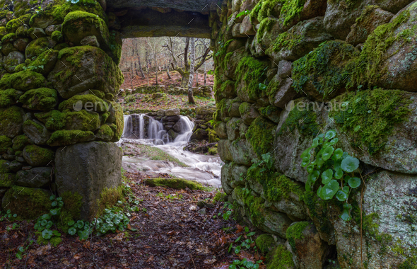 Ancient mill on the Ribeira Sacra - Stock Photo - Images