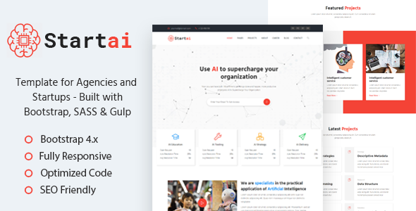 Startai – Agency & Startup HTML Template