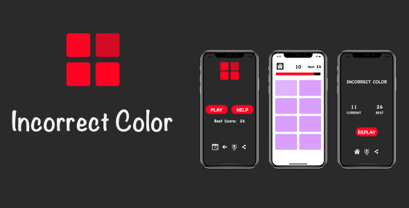 Incorrect Color - iOS Game            Nulled