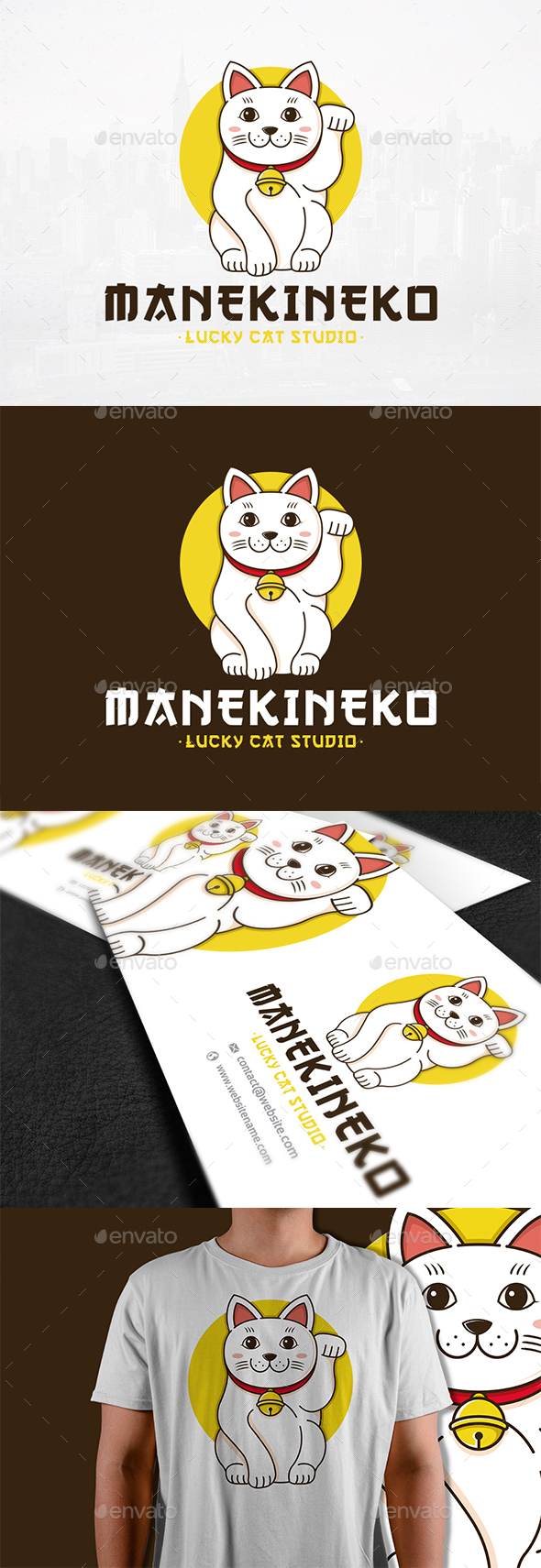 Maneki Neko Logo Template - Animals Logo Templates