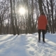 Boy Run in  in Winter Park - VideoHive Item for Sale