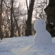 Boy Make Snowman in Winter Park in - VideoHive Item for Sale