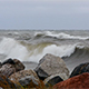 Storm on the Baltic sea making big waves on the ocean at Gotland in Sweden - VideoHive Item for Sale