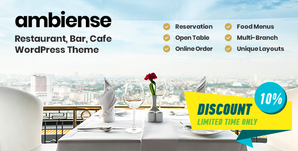 Image of Ambiense - Restaurant & Cafe WordPress Theme