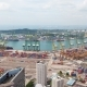 Singapore Aerial Panorama of Port Terminal - VideoHive Item for Sale