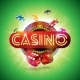 Casino Illustration with Shiny Neon Light Letter - GraphicRiver Item for Sale
