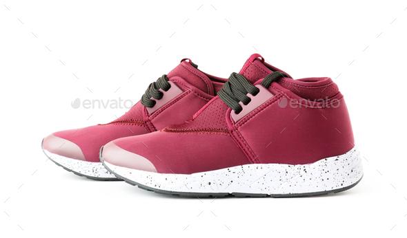 Isolated Unisex Modern Style Sport Shoes - Stock Photo - Images
