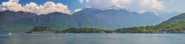 Panorama of the Lake of Como - Stock Photo - Images