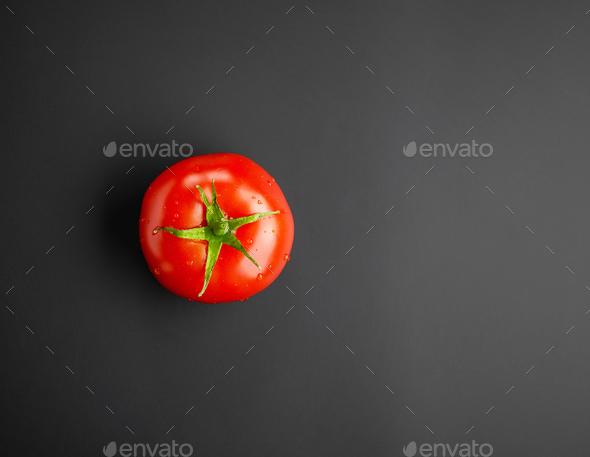 fresh red wet tomato - Stock Photo - Images