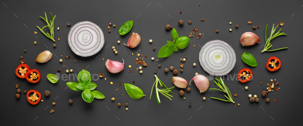 various herbs and spices - Stock Photo - Images