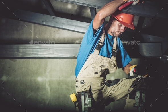 Construction Wood Worker - Stock Photo - Images
