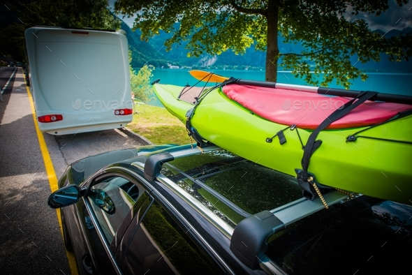 Summer Time Kayak Transport - Stock Photo - Images