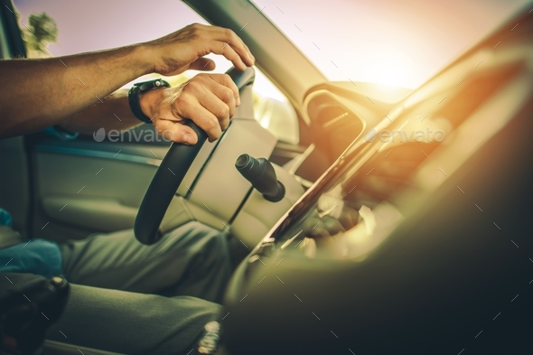 Driver Behind the Wheel - Stock Photo - Images