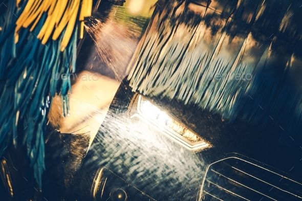 Washing Modern Vehicle - Stock Photo - Images